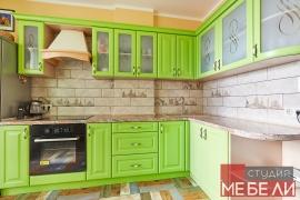 Салатовая кухня из МДФ