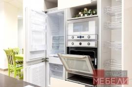 Белая кухня из пластика