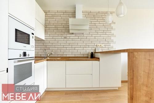 Лаконичная угловая кухня